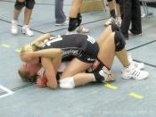 Freude über den Halbfinalsieg '08 in der Vilstal-Halle
