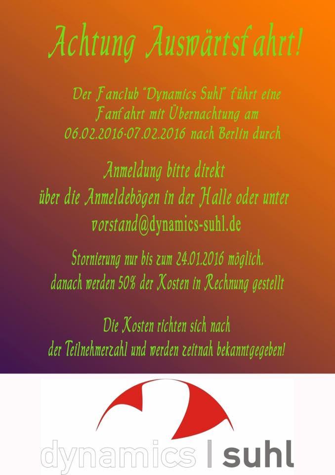 Berlin Fanfahrt 2016 VolleyStars Thüringen
