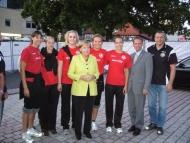 VfB - Gruppenfoto mit Kanzlerin